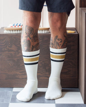Decka 80s Skater Socks, Yellow