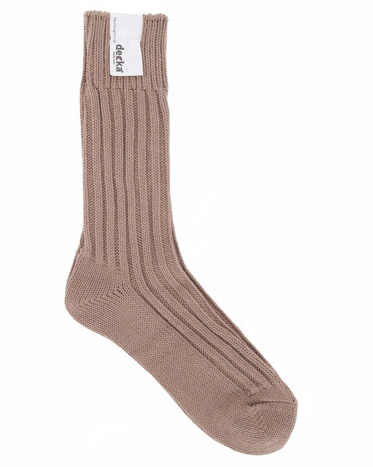 Decka Cased Heavy Weight Plain Socks, Beige