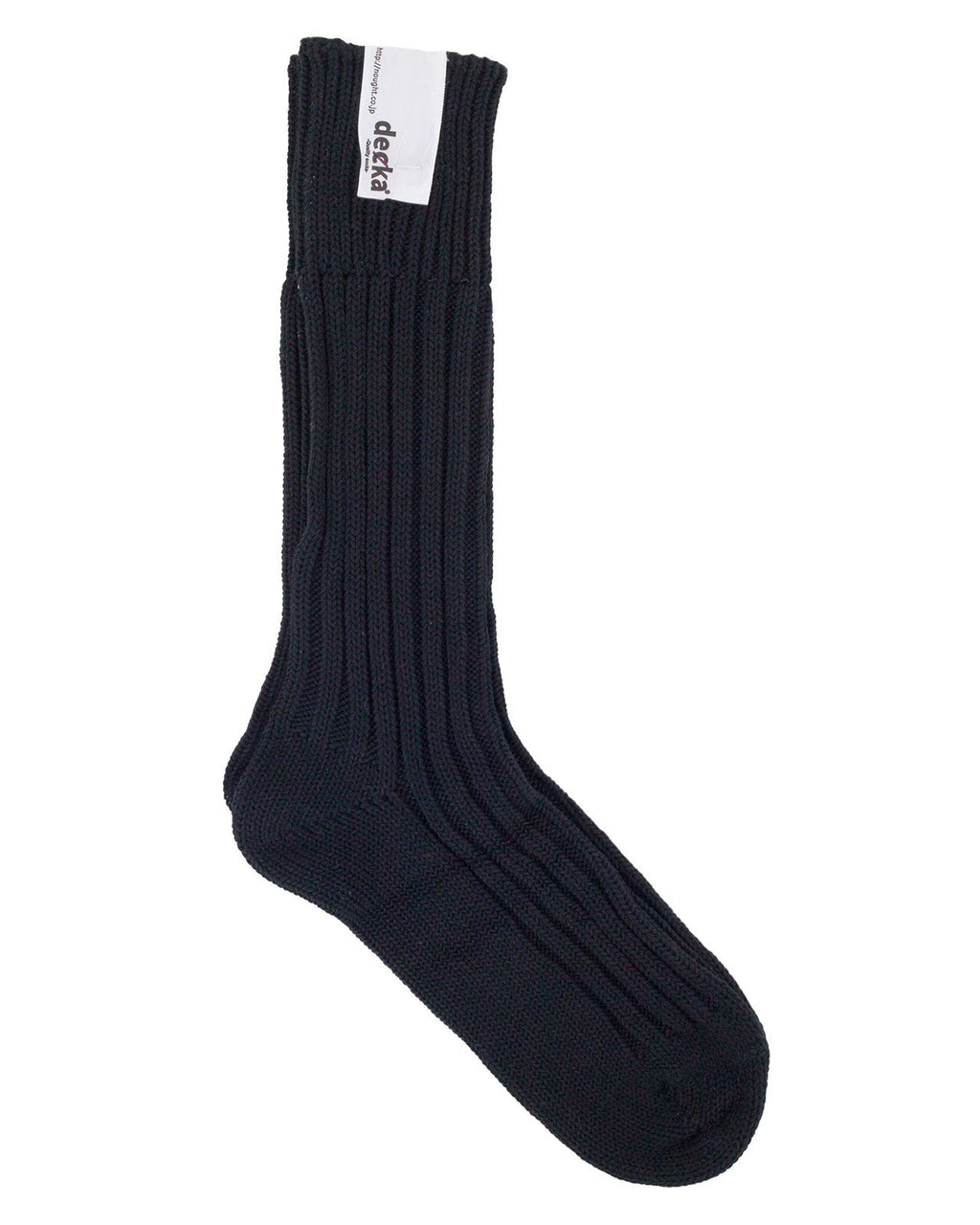 Decka Cased Heavy Weight Plain Socks, Black