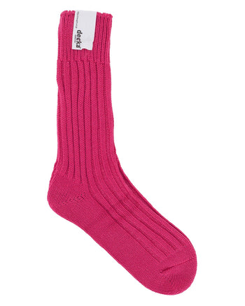 Decka Cased Heavy Weight Plain Socks, Pink