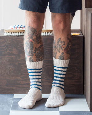 Decka Heavy Weight Socks Stripes, Blue