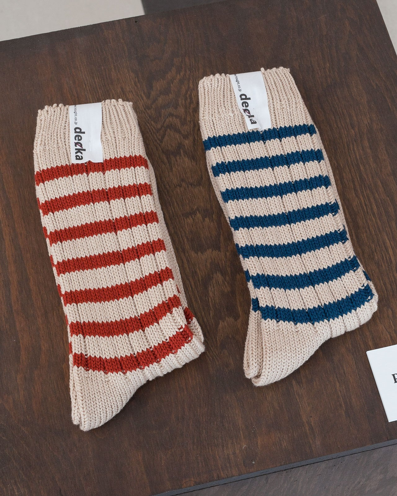 Decka Heavy Weight Socks Stripes, Red
