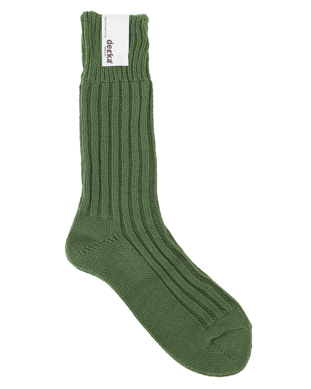 Decka Cased Heavy Weight Plain Socks, Green