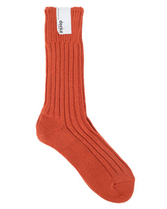 Decka Cased Heavy Weight Plain Socks, Orange