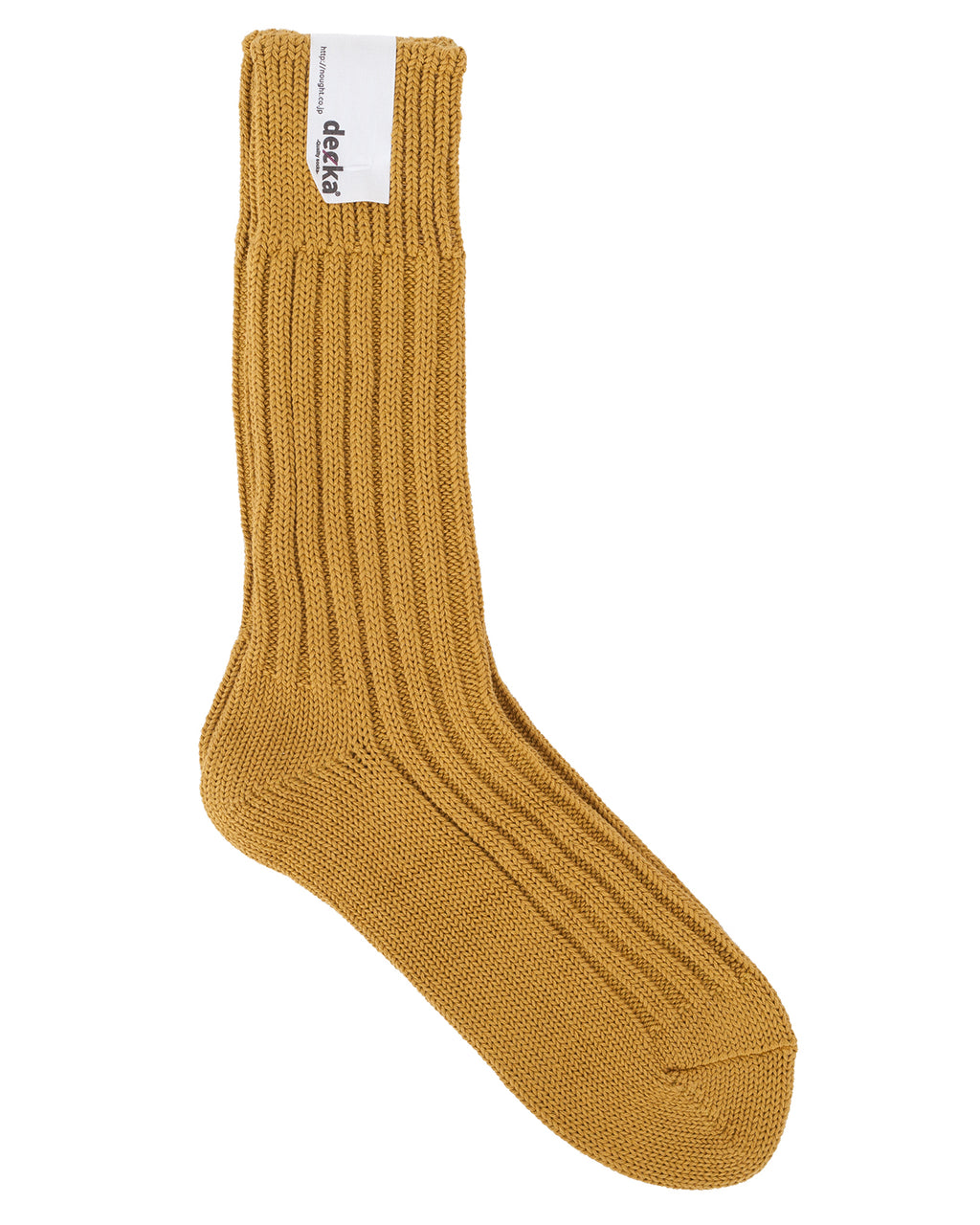 Decka Cased Heavy Weight Plain Socks, Yellow
