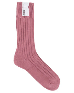 Decka Cased Heavy Weight Plain Socks, Flamingo