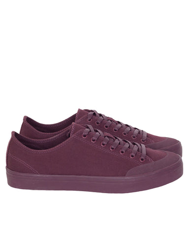 Erik Schedin Canvas Sneaker, Wine Red