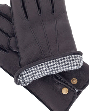 Glad Hand Leather Gloves, Black