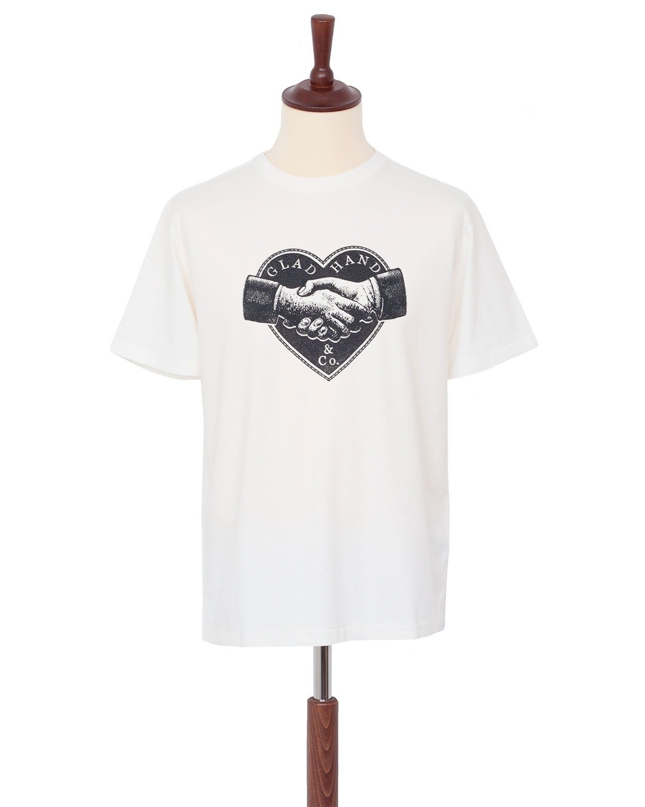 Glad Hand Advertising Heartland Tee, White