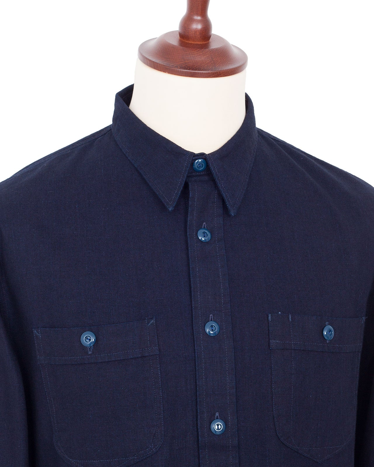 Indigofera Holden Shirt, Indigo Canvas