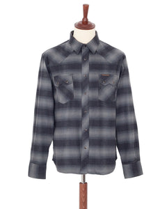 Indigofera Dollard Shirt, Grey / Black Flannel Check