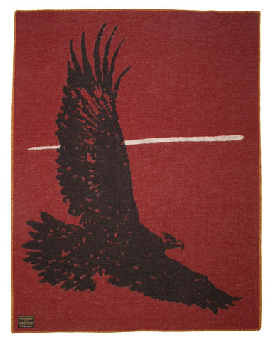 Indigofera Wool Blanket, Eagle