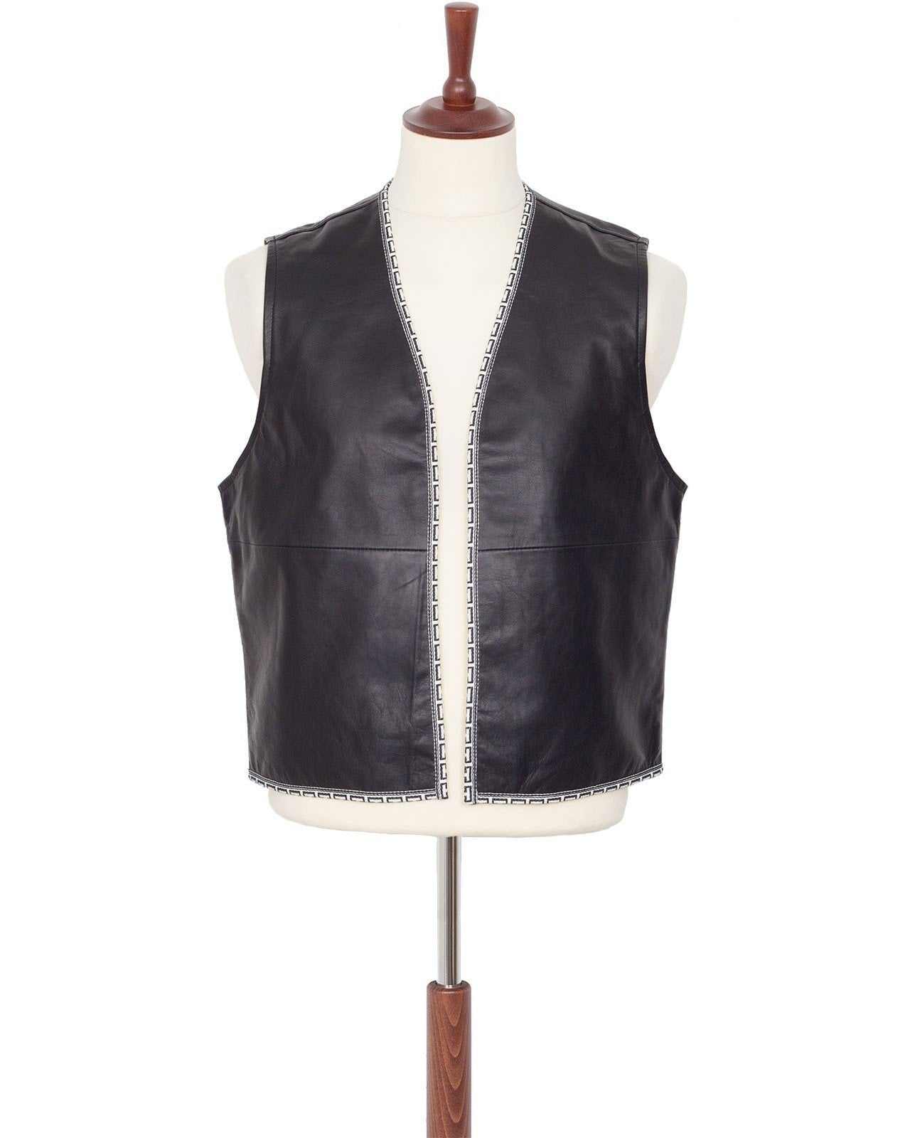 Indigofera Spawinaw Leather Vest