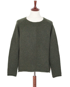Indigofera Willow Wool Sweater, Dark Green