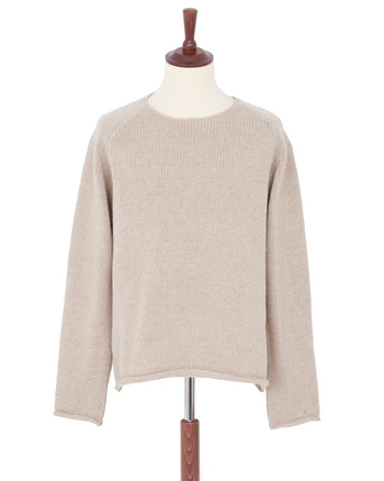Indigofera Willow Wool Sweater, Ecru Beach