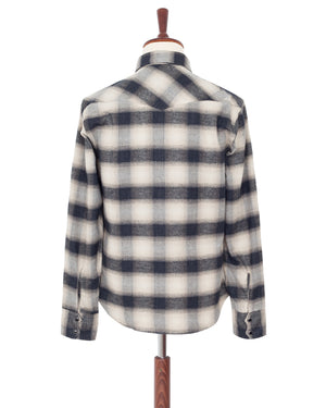 Indigofera Dollard Shirt, Check Flannel, White / Beige / Navy