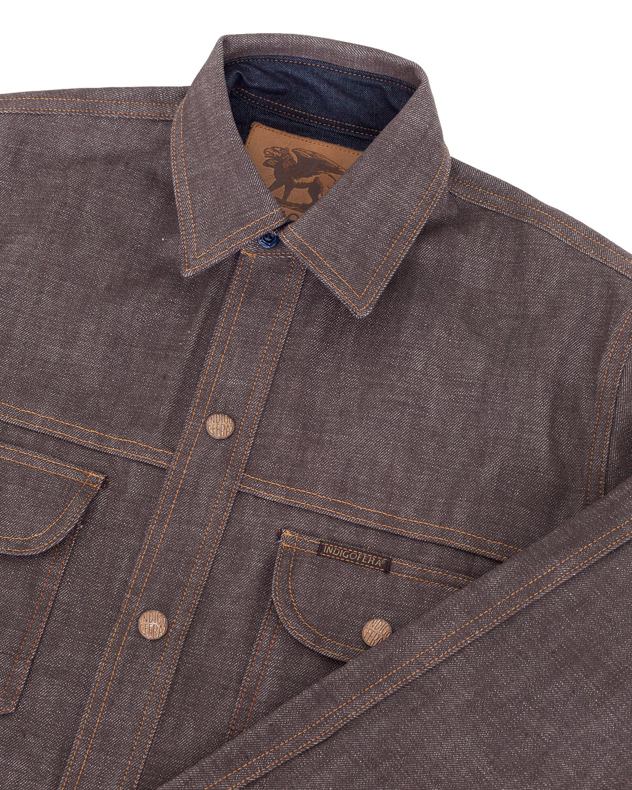 Indigofera Fargo Shirt, Low Desert Denim