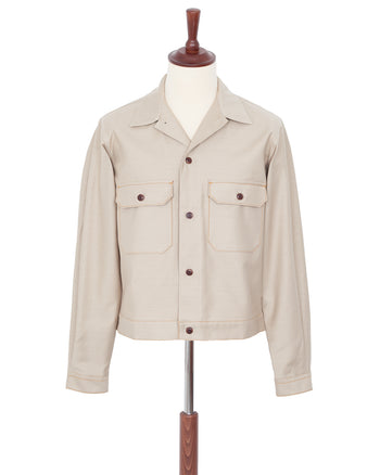 Indigofera Giffen Jacket, Sateen, Light Beige