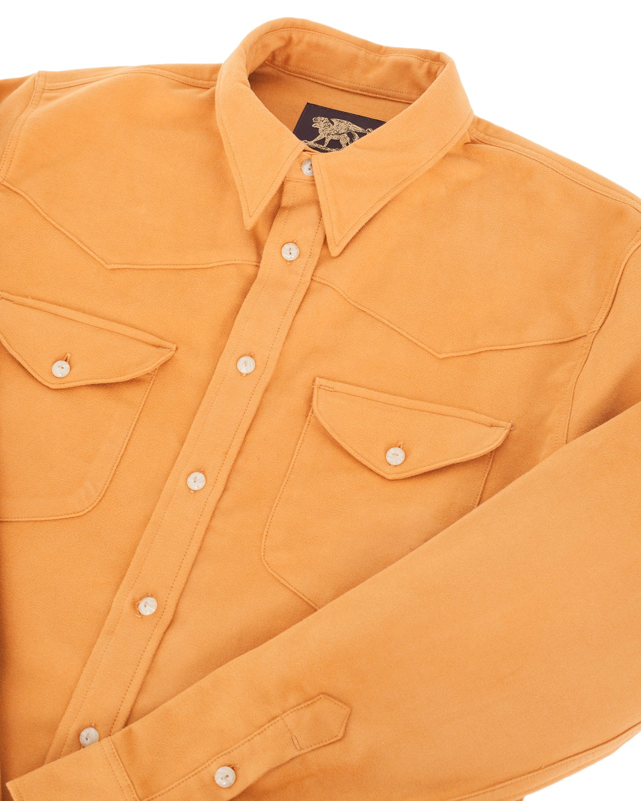 Indigofera Manolito Shirt, Moleskin, Sunset Yellow