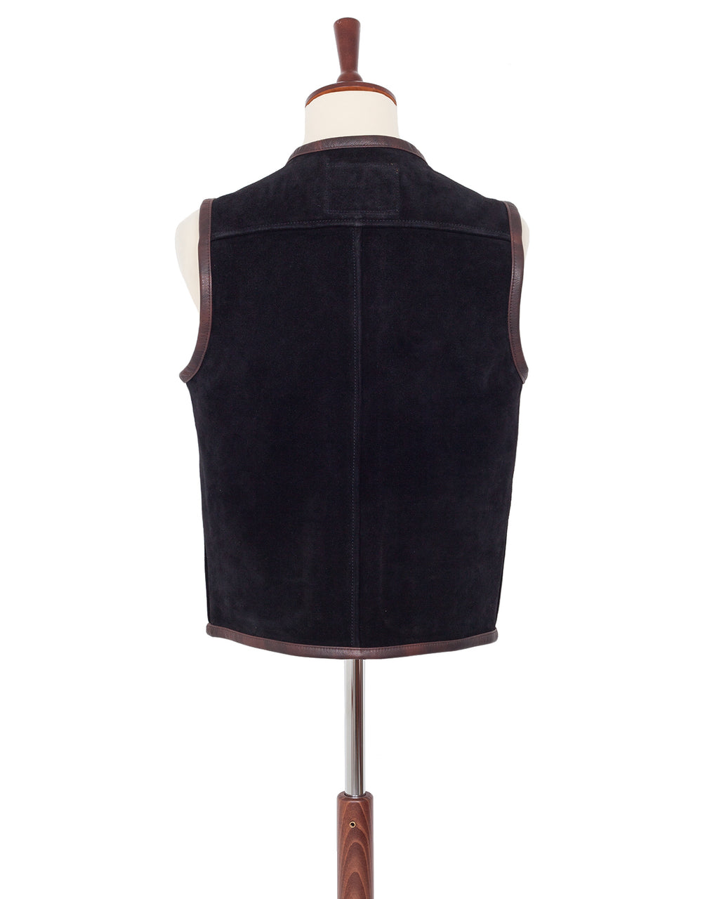Indigofera Monroe Vest, Black Rough Out