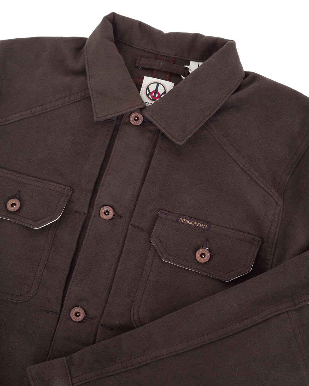 Indigofera Parsons Lodge Jacket, Heavy Moleskin, Brown