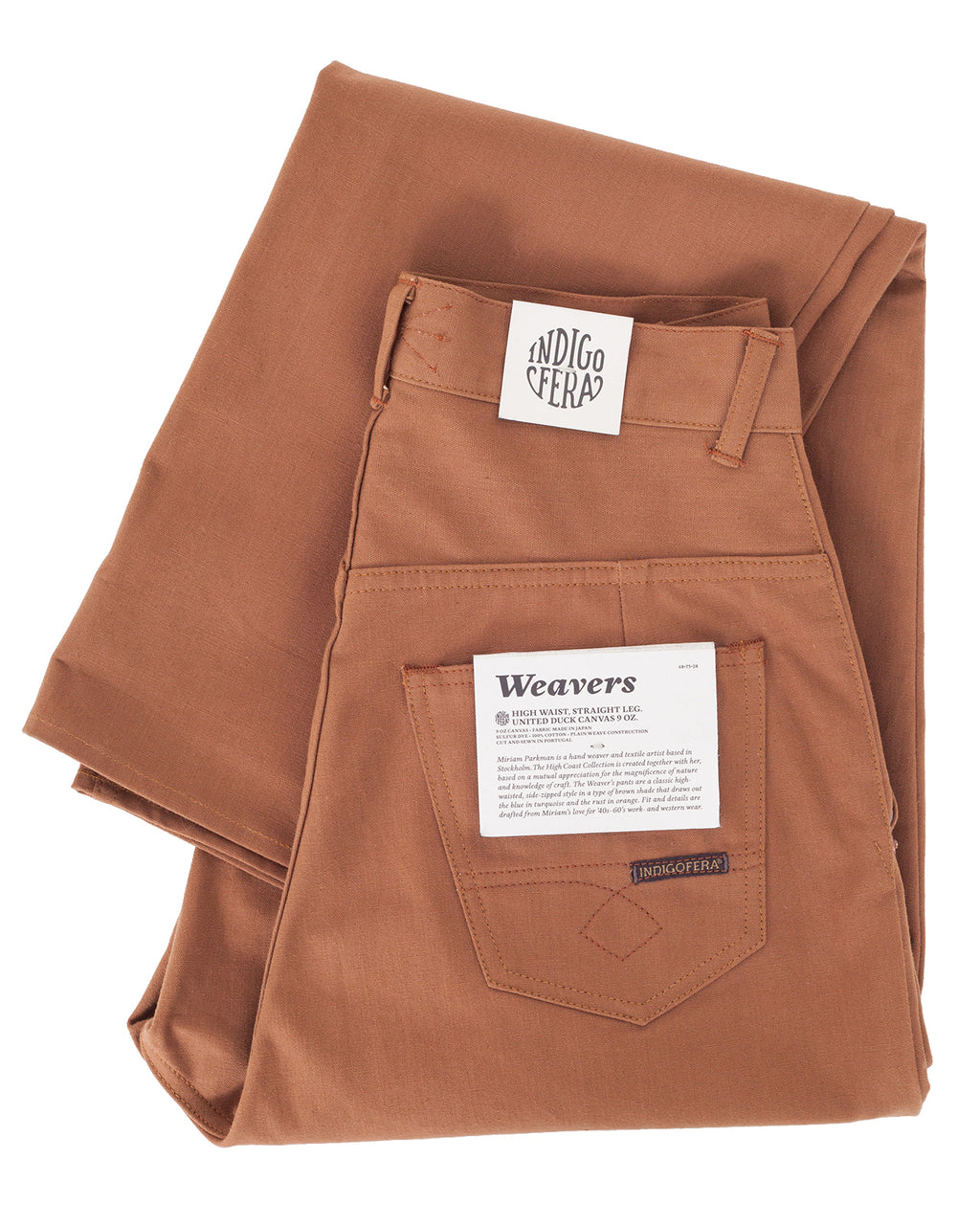 Indigofera x Miriam Parkman, Weavers Pants, United Duck Canvas