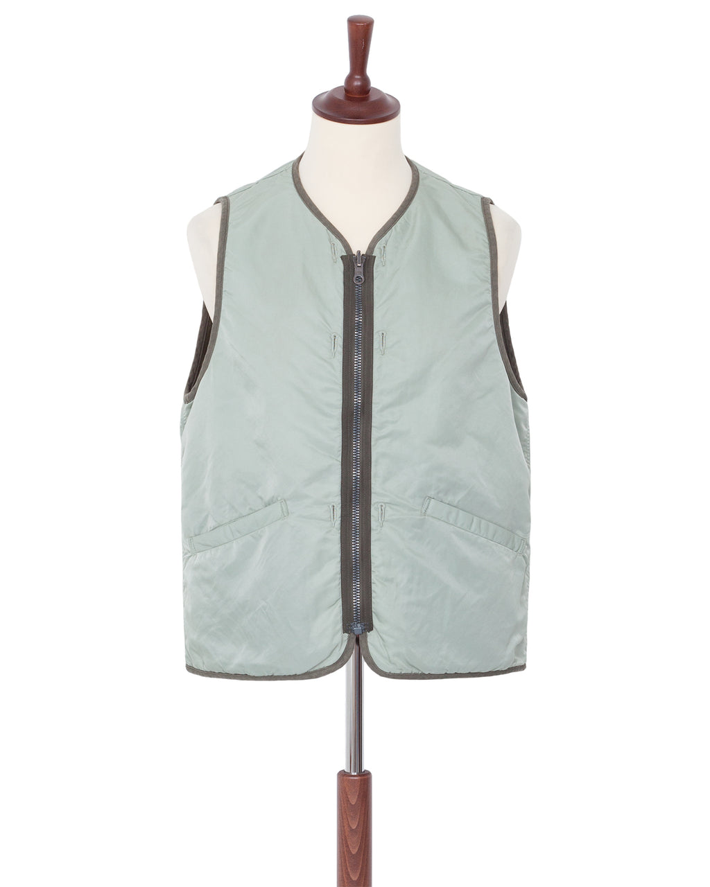 Visvim Iris Liner Vest, Light Green