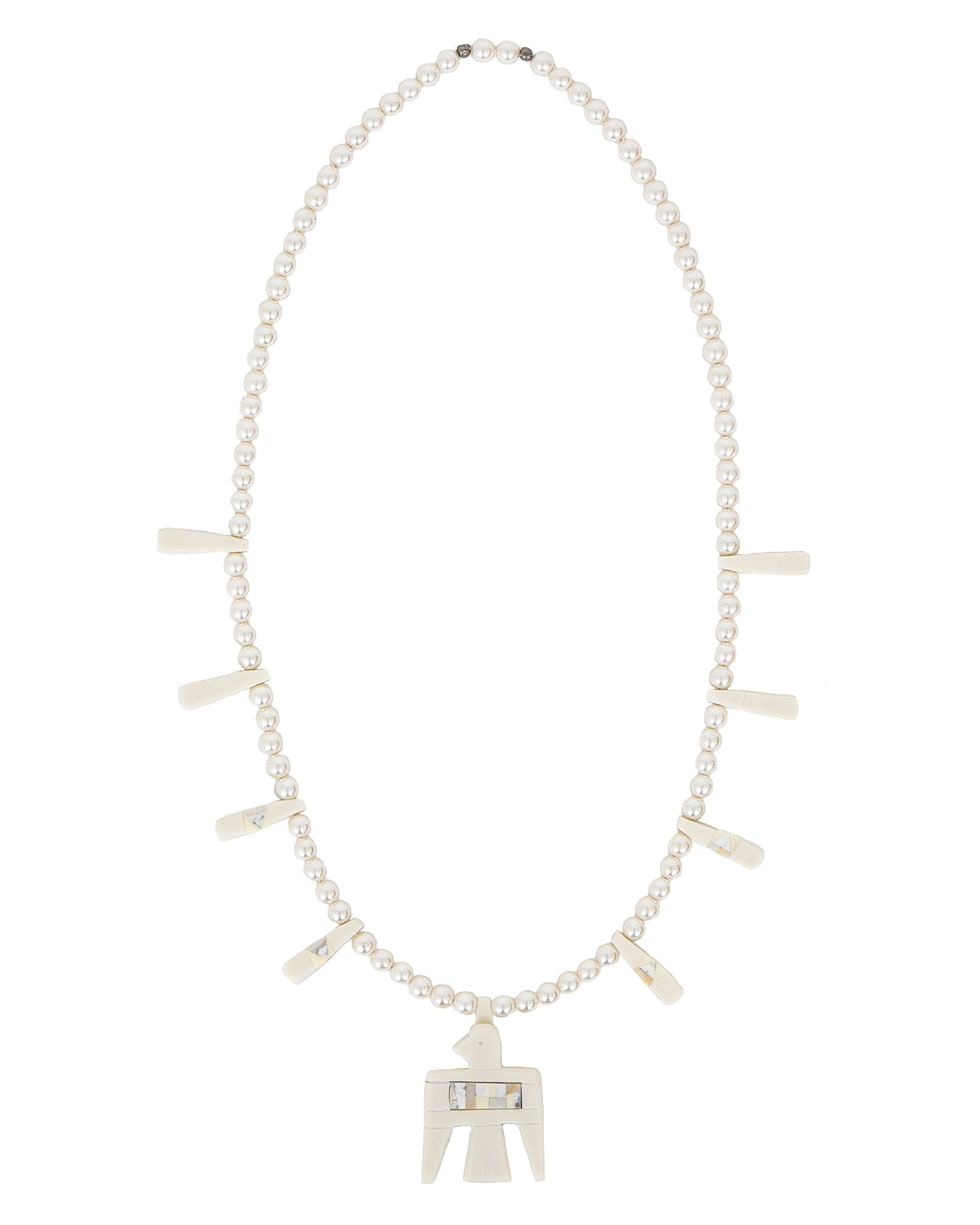 Kapital St Domingo Battery Bird Pearl Necklace