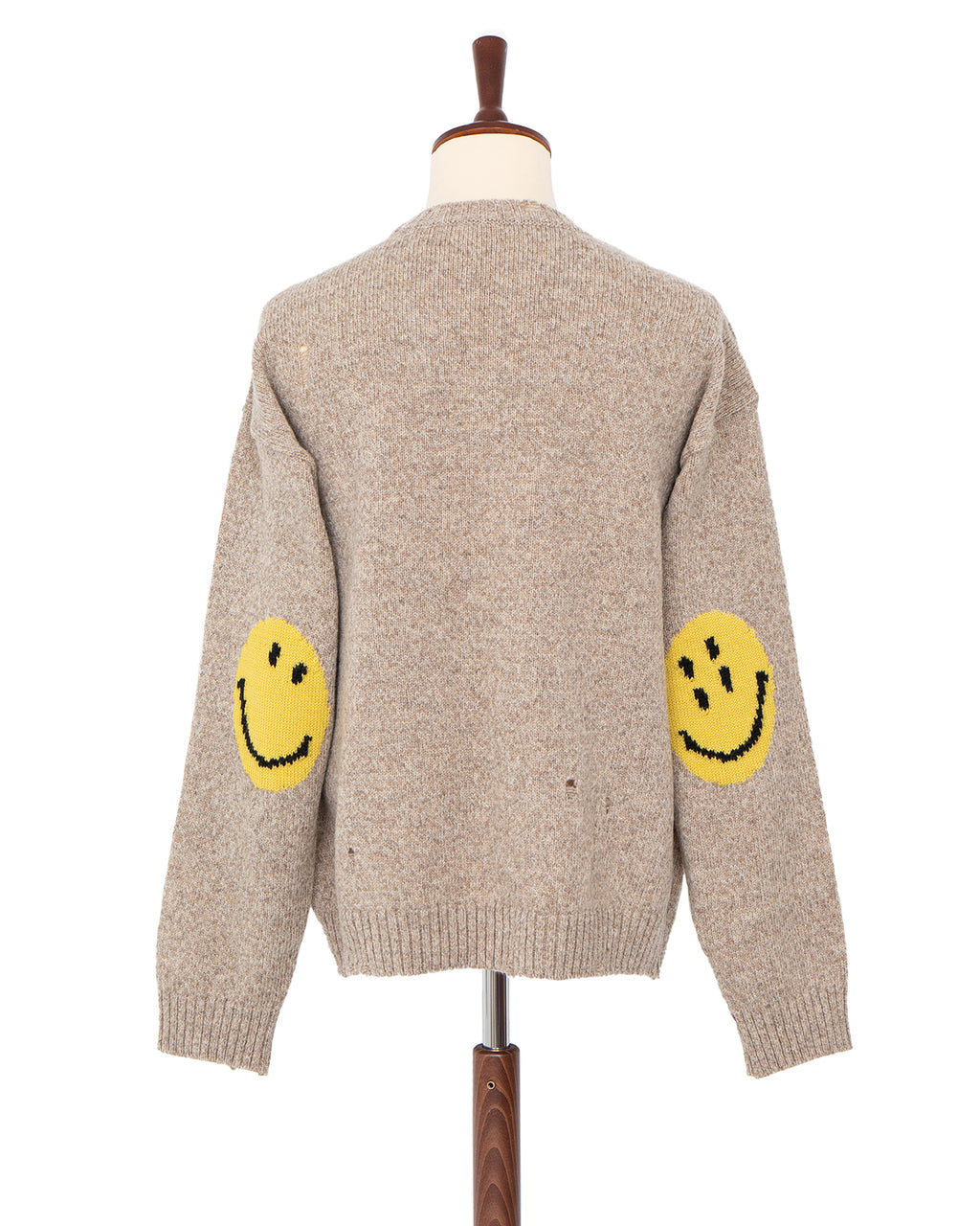 Kapital 7G Wool Smile Crew Sweater, Beige