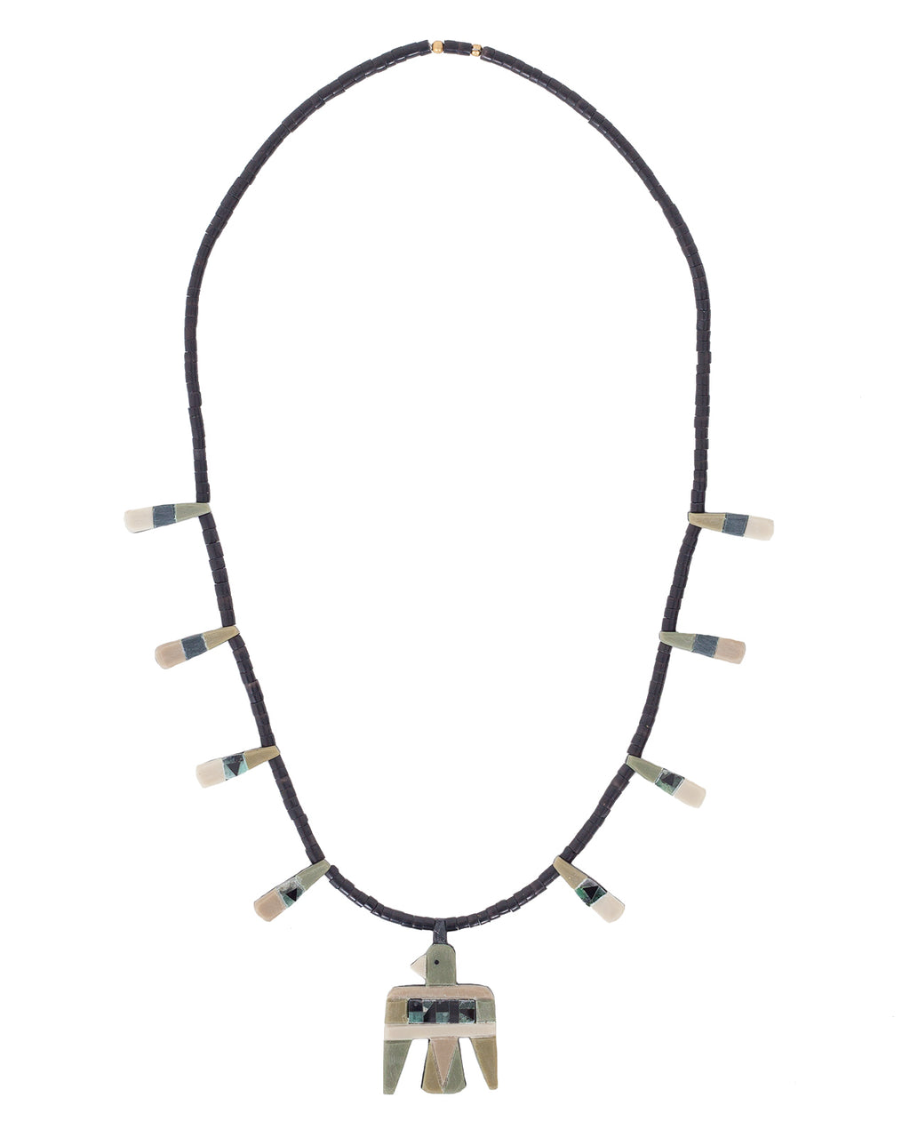 Kapital St Domingo Battery Bird Necklace, Small