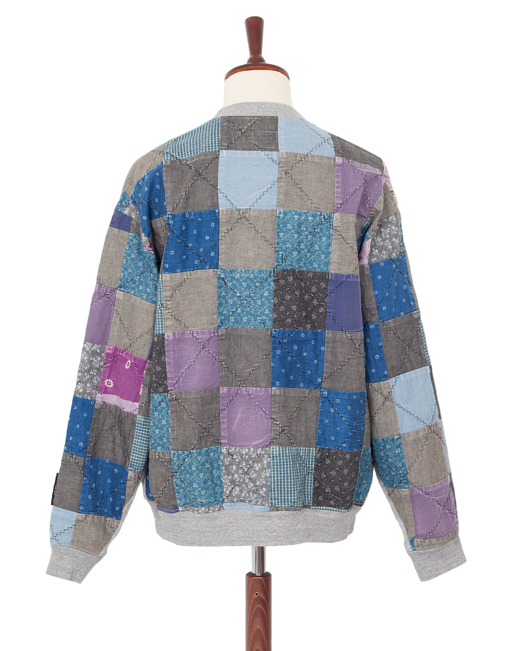 Kapital Fleece Knit x Quilt Big Sweater