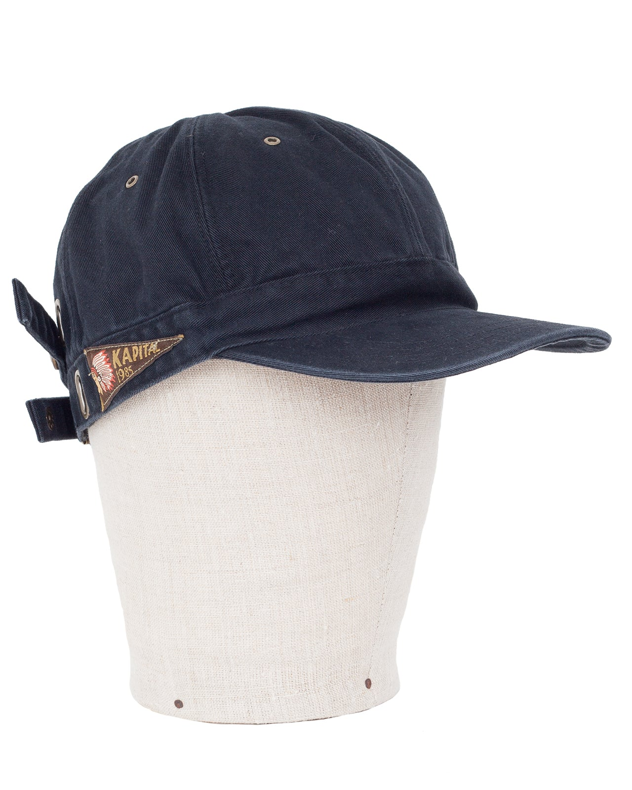 Kapital Chino Barbie Cap (Surf), Black