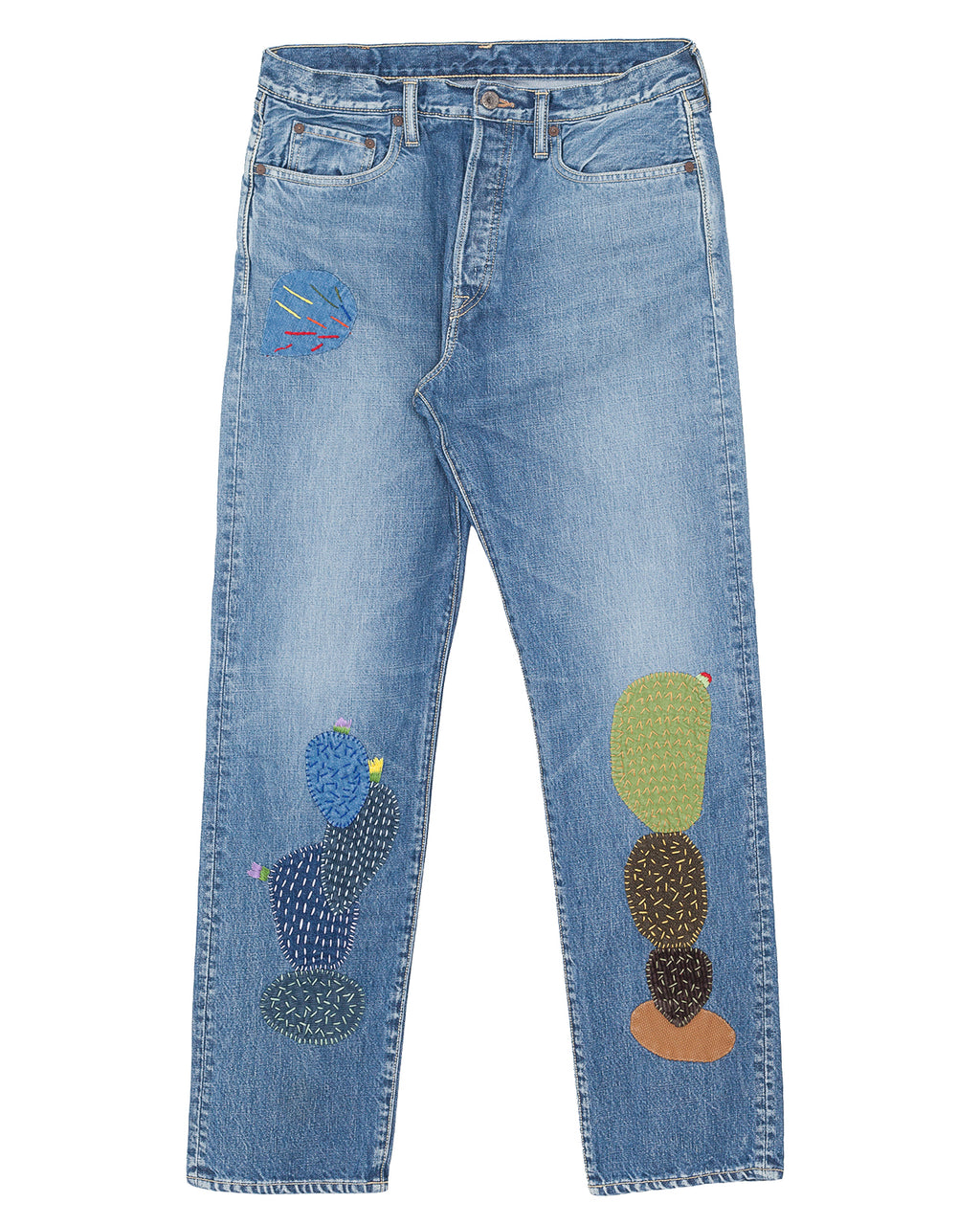 Kapital 14oz Denim 5P Monkey Cisco, Cactus Embroidery