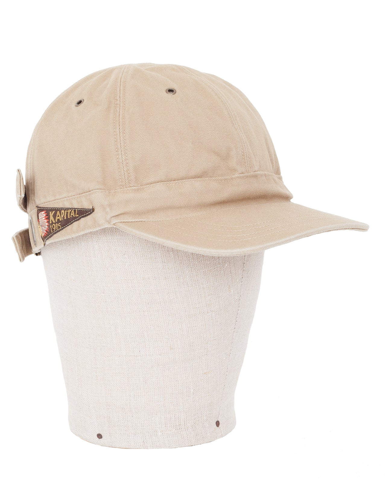 Kapital Chino Barbie Cap (Surf), Beige
