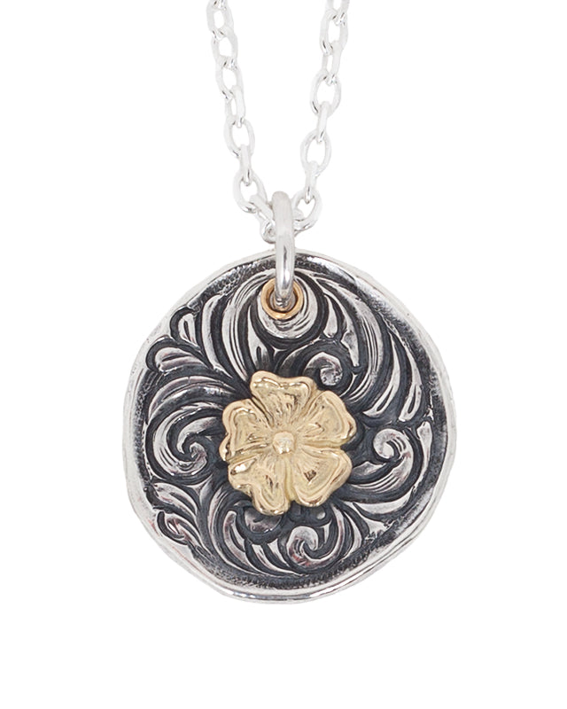 Larry Smith Karakusa Rose Pendant