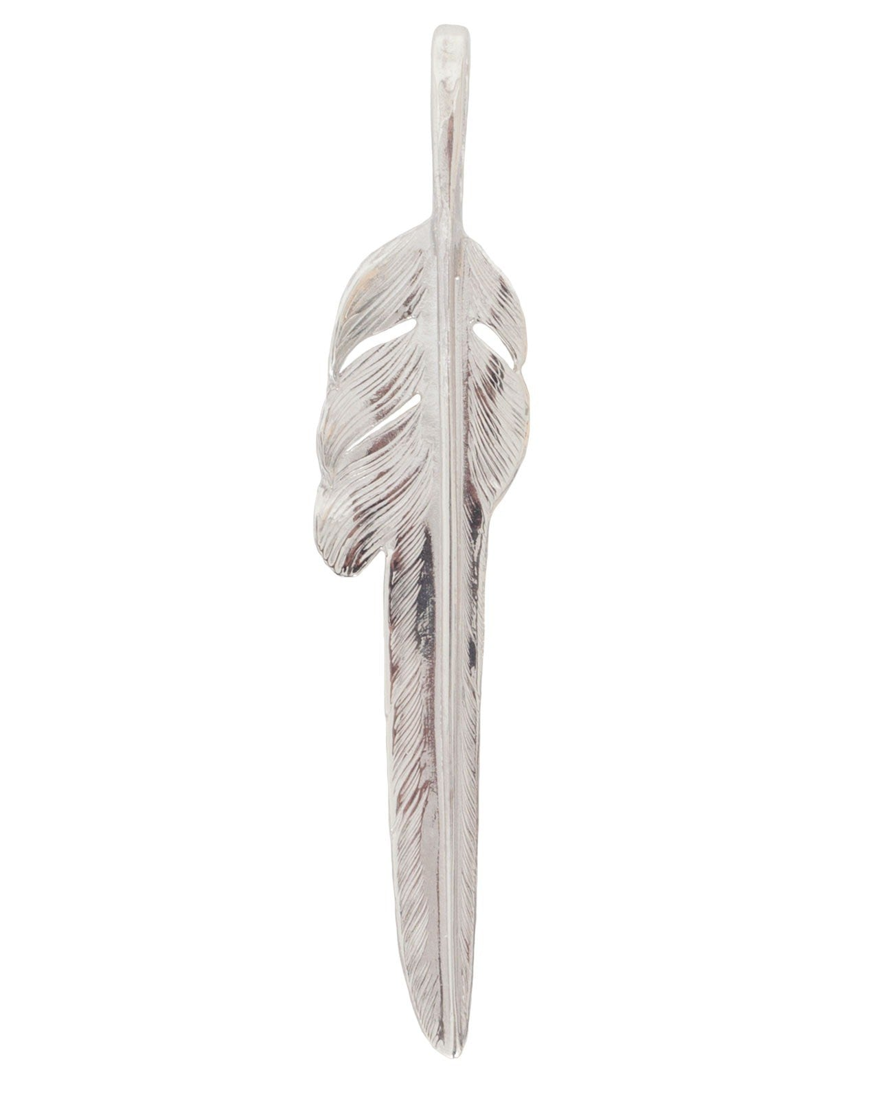 Larry Smith Silver Kazekiri Feather, Large