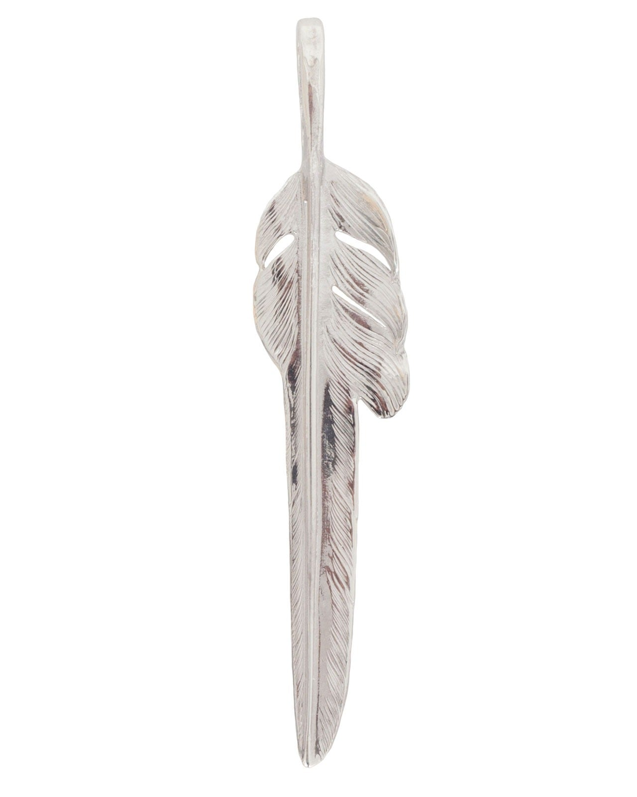 Larry Smith Silver Kazekiri Feather, Large (Left)