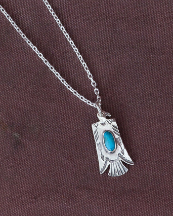 Larry Smith Thunderbird Turquoise Top