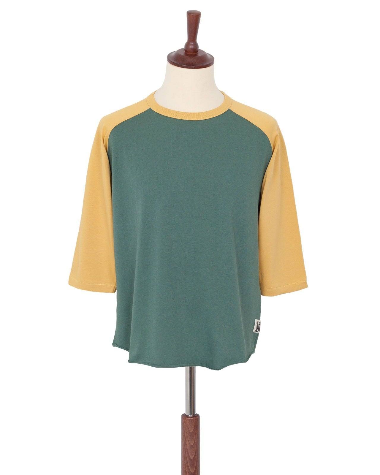 Indigofera Leon Raglan Sweater, Green / Yellow