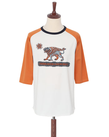Indigofera Leon Raglan Sweater, Orange, Republic