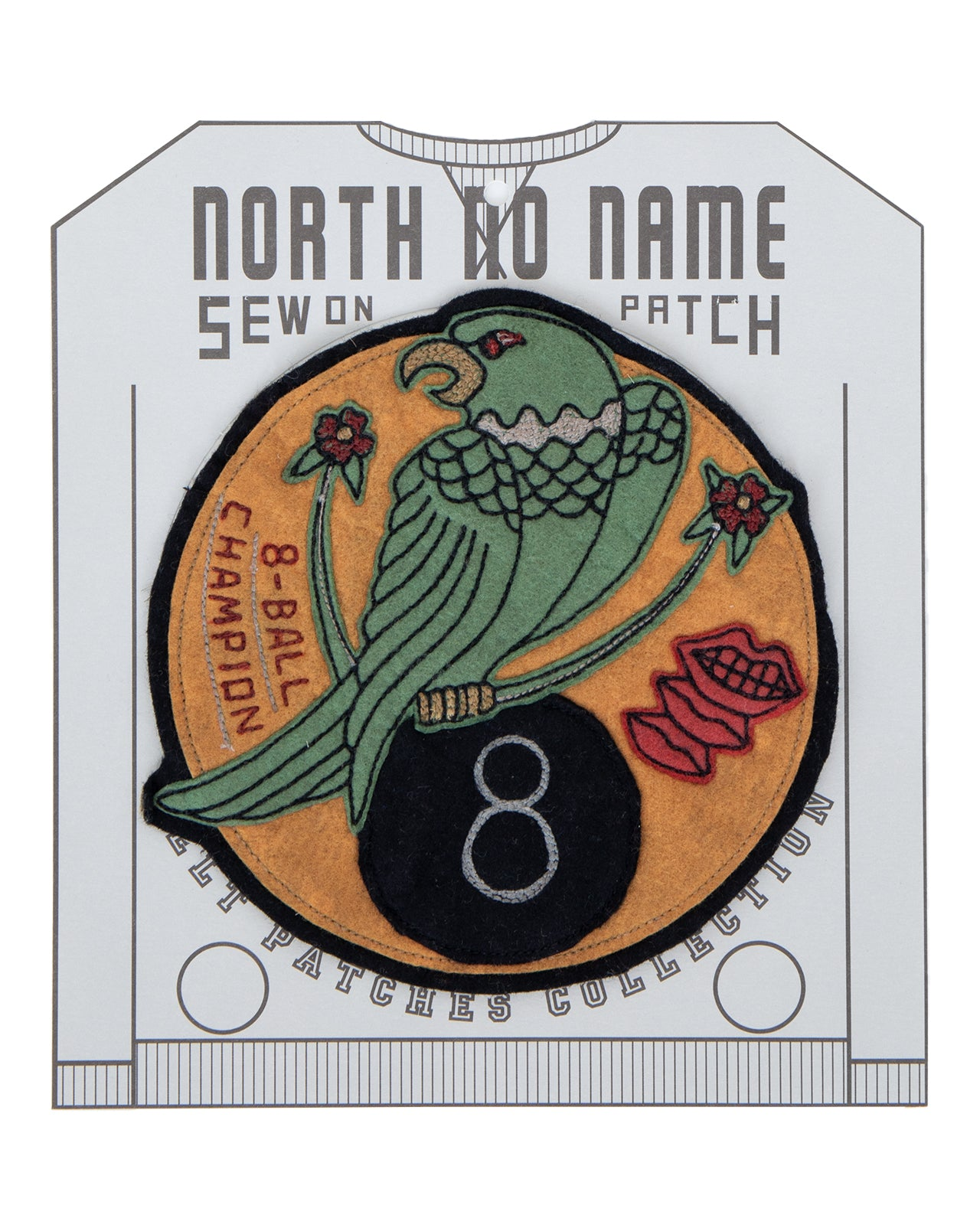 North No Name, Felt Patch, 8-Ball Champion