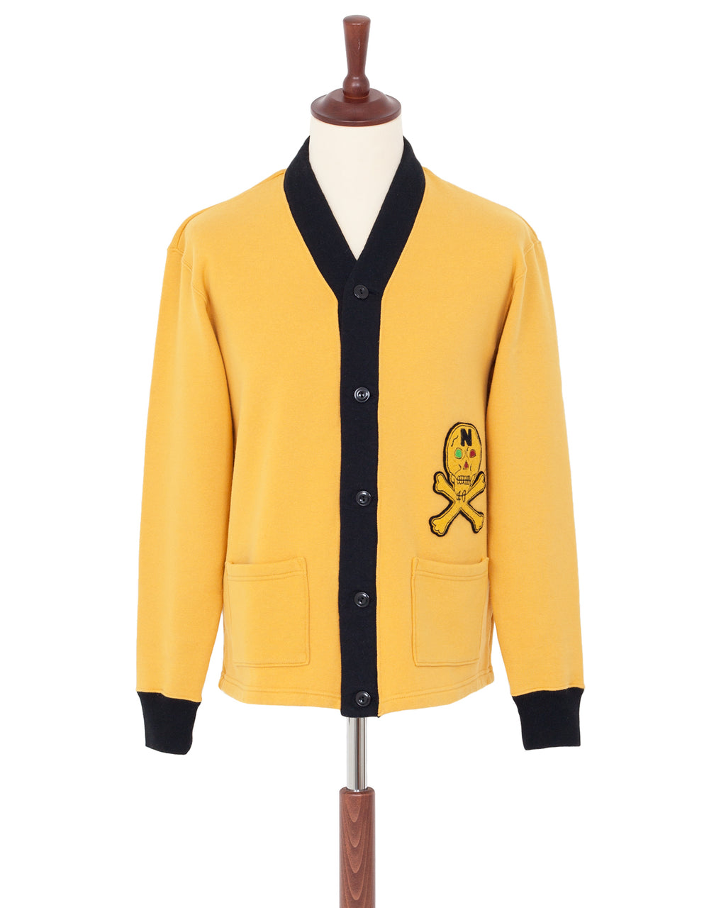 North No Name Skull Cardigan, Yellow