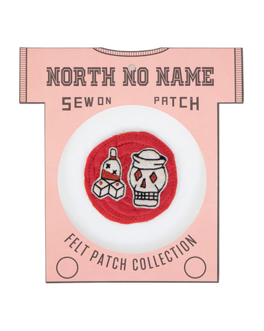 North No Name, Felt Patch, Red Skull