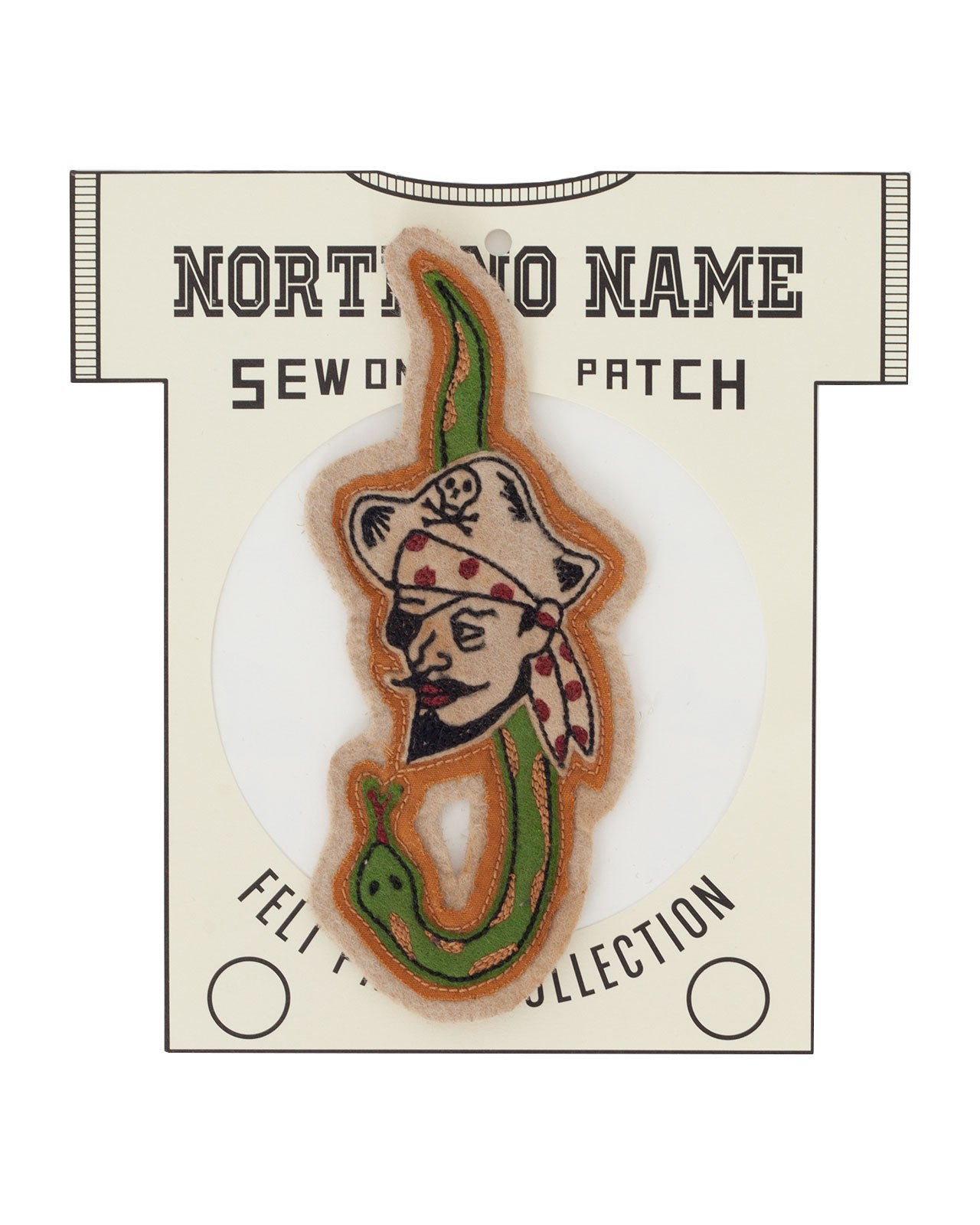 North No Name, Felt Patch, Snake Pirate