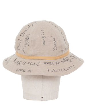 North No Name, Linen Hat, Message