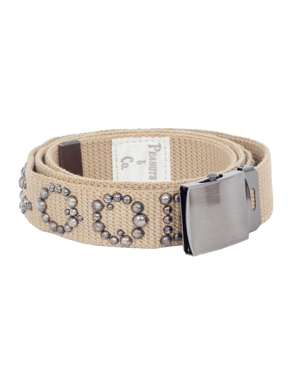 Peanuts & Co Studded Gacha Belt, Beige