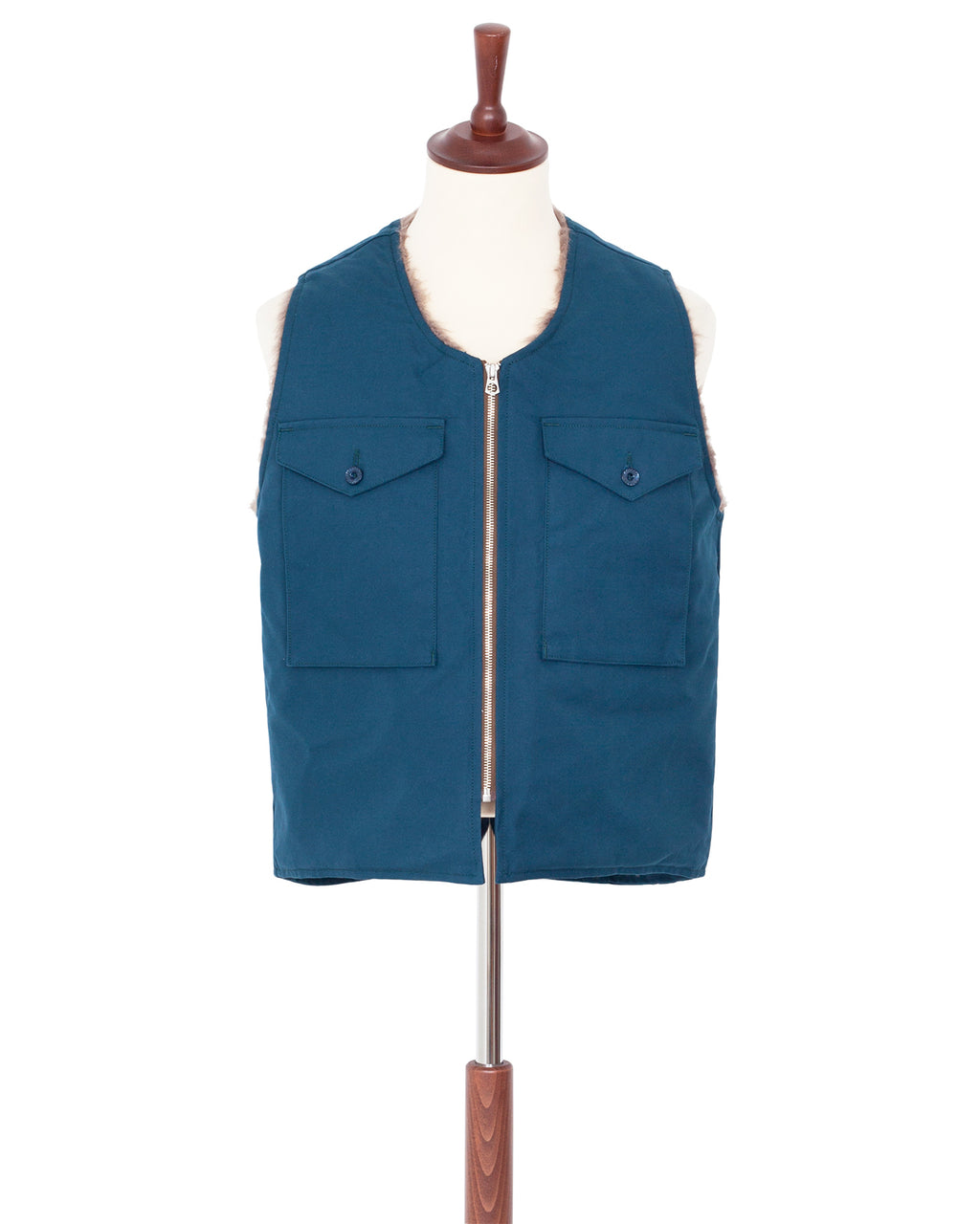 Indigofera Tectonic Vest, Ash Blue