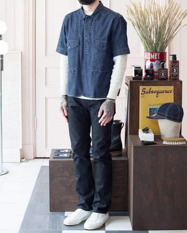 Indigofera Teeter Shirt, Military Chambray