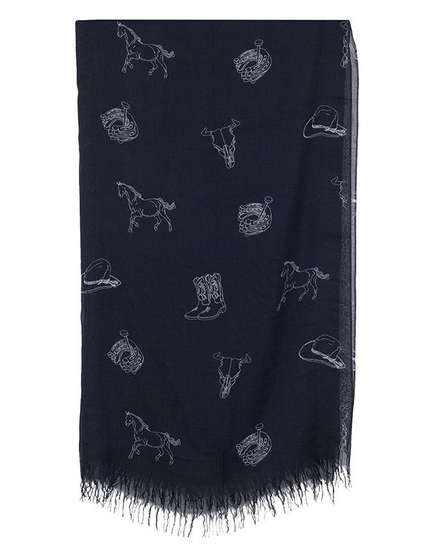 The Letters Western Stole, Black