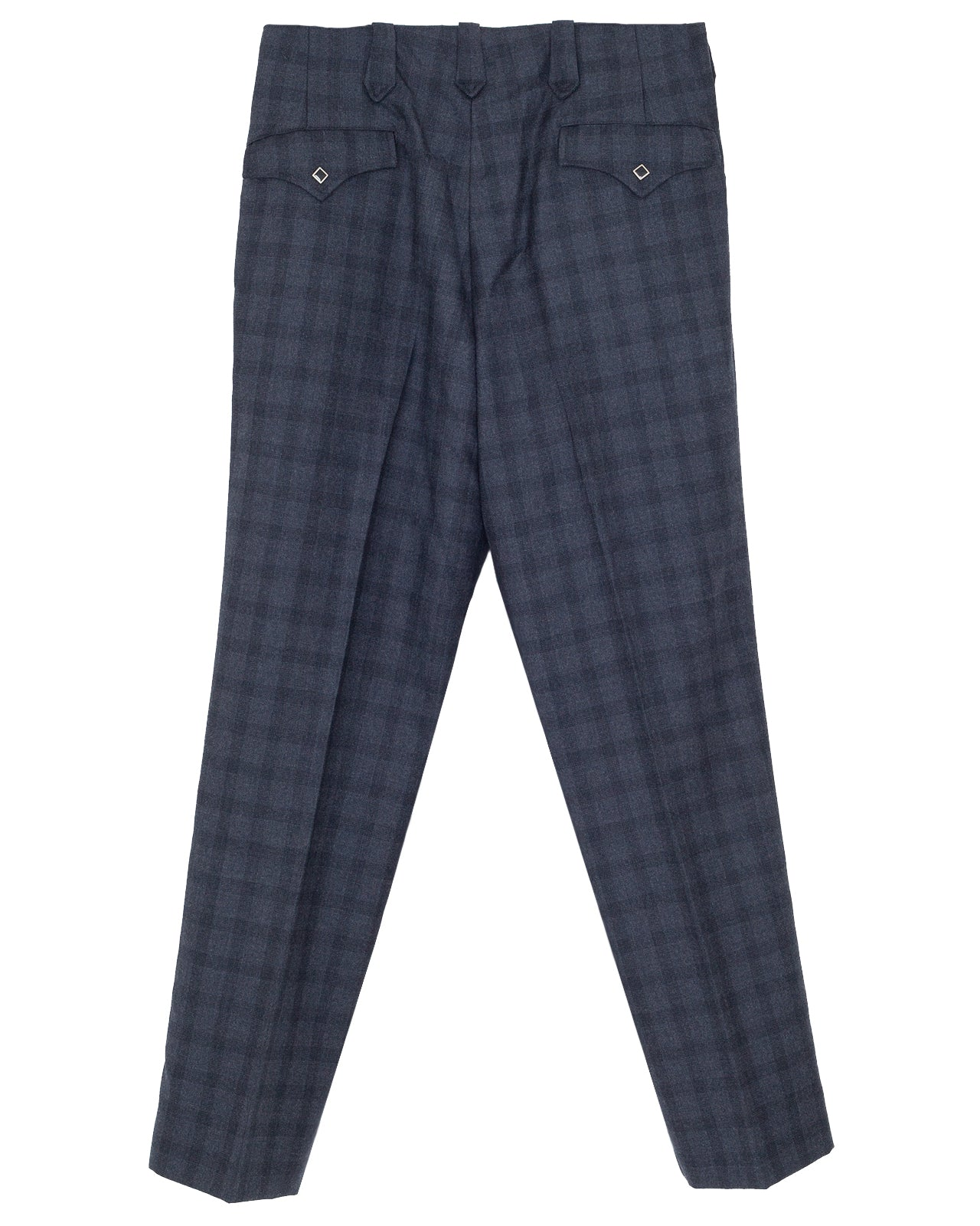 The Letters Western Trousers, Serge Wool Check
